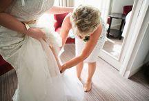 Bridal Prep / Bride, Bridesmaids, Hair and Makeup.