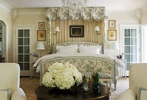 "Beautiful Bedrooms / ""Everything in a bedroom should contribute to an atmosphere of peace"" - Billy Baldwin"