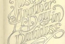 Beautiful Lettering / Typography, hand lettering and script