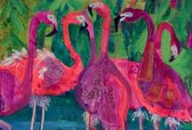 Linda Hendrickson, Artist / Here's our current show with Linda Hendrickson - Feathers, Petals and Sliders!
