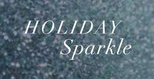 Holiday Sparkle / All things shiny, shimmer, and luxe. Take your desk to drinks look to the next level!
