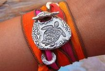Silk Wrap Bracelet, Silk Wrap Bracelets, Silk Ribbon Bracelets, Silver Wrap Bracelets, Leather Wrap Bracelet / Silk Wrap Bracelets by HappyGoLicky Custom Silver Jewelry & Personalized Gifts. Cool handmade silver wrap bracelets designed to make your soul smile. Pop in to see over 50 styles of fashionable & unique silk wrap bracelets at www.HappyGoLickyJewelry.com                   www.facebook.com/HappyGoLicky  <<--- FOLLOW --->> www.twitter.com/ByHappyGoLicky      / by HappyGoLicky Custom Silver Jewelry on Etsy