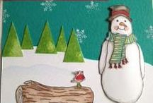 Christmas Artwork - Stamp Addicts / Christmas cards using Stamp Addicts rubber stamps.