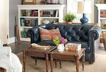 Home Decor: family room spaces / creating a comfortable family room
