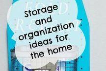 Storage and organize ideas! / Get organized with these great ideas for storage |  organization | storage ideas | diy storage | how to organize | tips for getting your home organized | diy storage  ideas | let's get organized | ideas for organization and storage