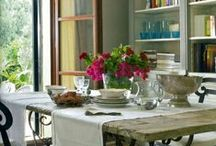 Home Decor: dining rooms / cozy dining spaces