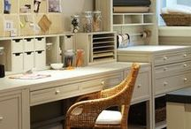 Organization: craft room / ideas for creating and organizing a creative space/sewing room/hobby room