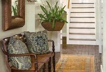 Home Decor: fabulous foyers / warm and welcoming designs to greet my guests