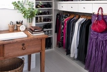 Organization: Closets / inspiration and ideas for a well organized and functioning closet.