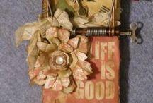 Mixed Media / All things mixed media. mixed media bottles, mixed media technique, mixed media art, diy mixed media craft ideas