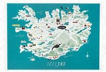 Wanderlust : Iceland / Map of cool places and spectacular views in Iceland