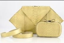Holiday Collection / Annie Handbags Gold Python Accessories