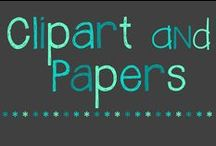 Clipart and Digital Papers / digital papers and clipart for TPT and other digital projects :)