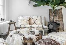 Boho Home / Free spirited home, raw natural materials, cosy interior. This  board is for you!