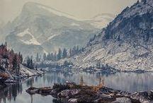 mountains, streams & falls / by Cindy Santonas