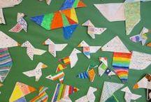 Arts Alameda / Carpeta con algunos de los trabajos de nuestros alumnos de primaria en la asignatura de Arts.