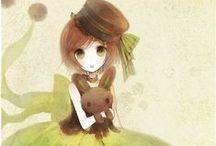 Curious Art: fanart anime Pixiv Zerochan / by Kelly Bock