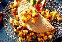 Quesadilla Love / Sweet or savory, just toss whatever it is into a tortilla, crisp it up a bit and eat! / by Ginger Hilgenberg
