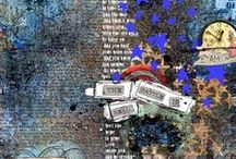 M3 Mixed Media Monthly - my pages