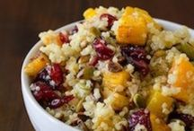 Fall Flower Potluck / Fresh Fall inspired menu for family style meal.