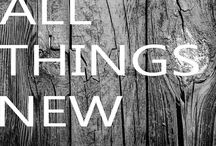 All Things New / My word for 2015 {New}