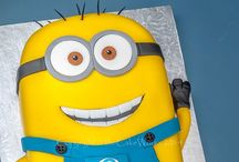 Minion's cake / Minions' flat or 3d cakes