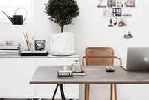 Home Office / Does your office need a face-lift? Check out these gorgeous work spaces designed for beauty and efficiency!   office, home decor, interior design, workbench, work space, home decoration, office space, remodel, design inspiration, home office