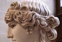ancient hair / Hairstyles from history. How to style hair based on statues and paintings throughout history. Extrapolation.  / by Cesca Faber