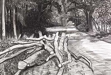 Trees #inspirations / Paintings, drawings and prints of trees