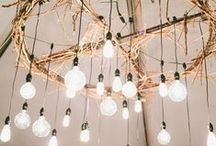 Lighting + Installations / lighting will make or break your event. set the mood with an eye catching centerpiece or create an atmosphere with subtly / by The Green Building