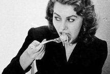 Hot Food | Hot Babes / Retro babes eating real food.