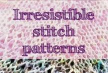"Knitting Stitches / From easy to ... almost impossible, a ""stitchionary"" with my favourite knitting stich patterns."