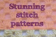 """Crochet Stitches / A Basic to Advanced+++ """"stitchionary"""" of my favourite crochet stitch patterns."""