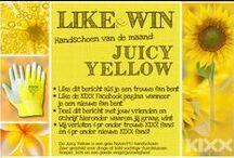 """KIXX ♥ (G)Loves Juicy Yellow Summer """"To Impress!"""" / Juicy Summer in the city and on the countryside. Lekker aan de slag in de tuin met de hippe handschoenen Juicy Yellow van KIXX."""