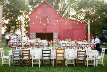 old fashioned church social / wedding theme--40's style box social
