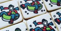 Sports Themed Cookies / These delicious cookies are perfect for the sport enthusiast, whether they watch or participate.