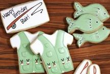 Masculine Themed Cookies / Decorated cookies for the boys and men.