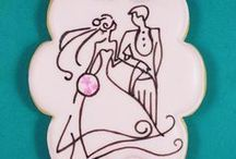 Bridal, Wedding & Anniversary Cookies / These cookies are all created by me.  Decorated cookies for bridal, wedding and anniversary themed events, perfect gifts for guests at your shower, wedding or anniversary event.