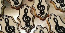 Musical Themed Cookies / Decorated cookies with a musical theme.