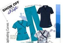 Scrubs for Curvy Figures! / With a full bust that is equal or very close in measurement to your hips and a narrow waist. Show off your Hourglass or Curvy shape with scrubs just for you! No need to stress and feel uncomfortable. Shop at UniformAdvantage.com for all your medical uniform needs! #scrubs #medicaluniforms #uniforms #fashion
