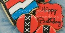 Dutch Themed Cookies / Decorated cookies with a Dutch theme.