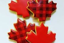 Canadian Themed Cookies