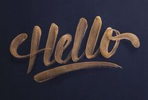 // typography & lettering