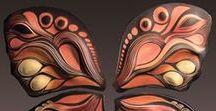 Butterfly Wall Art Tiles / Handmade, ceramic wall art tile by Natalie Blake Studios
