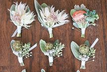 Gorgeous bouquets & boutonnière / Omg, I love flowers
