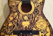 Awesome sharpie guitars / Guitars with sharpie art. Because I need to do this.