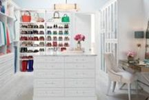 Closets, Walk in Wardrobe, & Study / Turning a large master bedroom into a walk in closet AND home office.