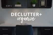 DECLUTTER + ORGANIZE / Tips and tools to be more efficient and productive with better organization! | organize small spaces | organize ideas | organize life | organize tips | organize home | organize hacks | organize DIY |  organize clutter | declutter and organize | decluttering ideas | declutter tips | declutter motivation | declutter your life | get rid of stuff | declutter fast | how to declutter | declutter hacks