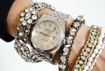 "jewelry, watches, etc..... / ""bling"", exagerrated stacks of arm candy, aka sweet pieces, statement or minimalist accessories!!"