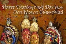 Thanksgiving / Big dinners, family gatherings, wishbones, football games, turkeys and pie. Old World Christmas has ornaments for many special occasion, including Thanksgiving ornaments!